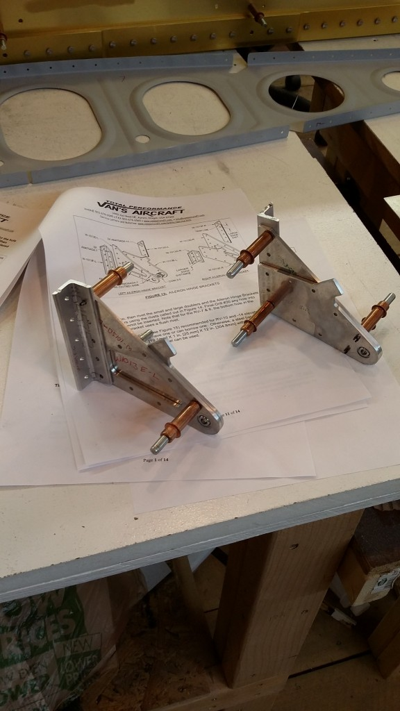 Initial fit of Inboard Aileron Hinge Brackets